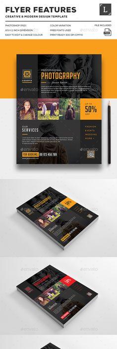 Photography Flyer Flyer Design Pinterest Photography flyer