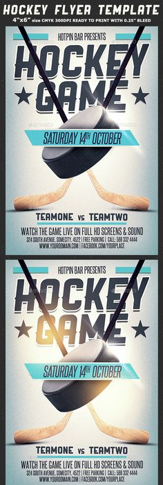 Hockey Match Flyer Template | Flyer template, Template and Event flyers