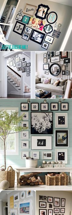 Unique ways of displaying photographs in your home frames galore family photos gallery wall ideas third to last photo decor here is an assortment of