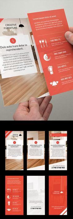 Language Learning Centre Tri Fold Brochure Template Design