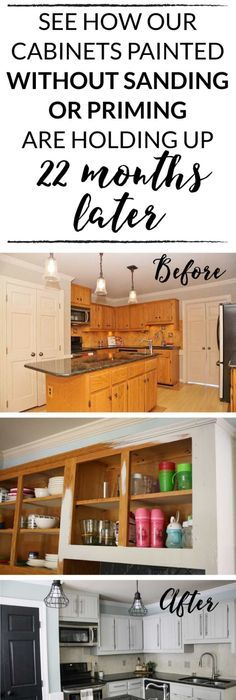 DIY Painted Kitchen Cabinets Update