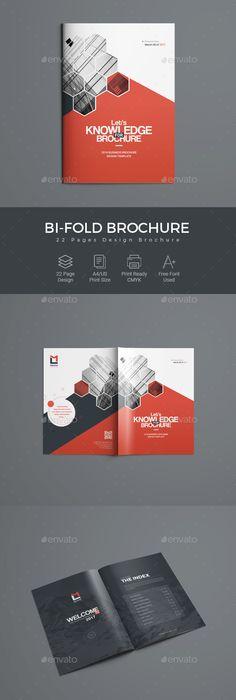 Corporate Bi Fold Brochure Brochure Template Brochures And Template