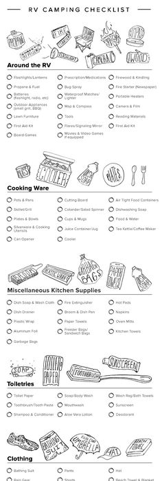 Infographic Your Printable RV Camping Checklist