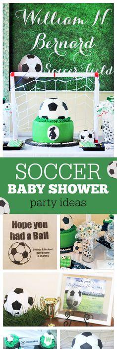 Sport Soccer Baby Shower Soccer Theme Baby Shower