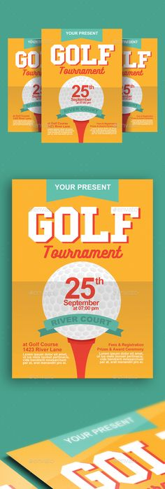 Golf Tournament  Event Poster Or Flyer  Golf Event Flyers And