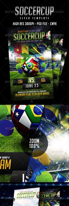 Soccer Flyers Bundle V  Flyer Template Template And Event Flyers
