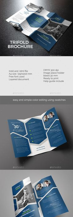 Construction TriFold Templates Tri Fold Brochure Template Tri - A4 tri fold brochure template