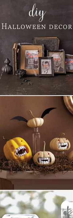 Deck your mantle for the Halloween season with these cutely creepy