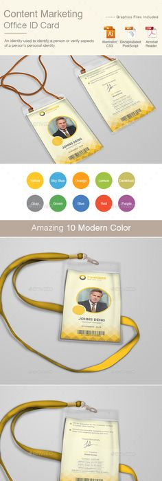 Office Id Card  Print Templates Template And Corporate Identity