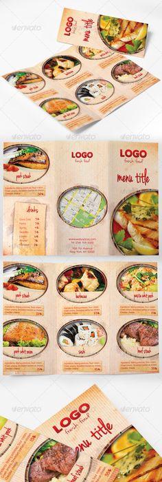 Pamphlet Design For Restuarants  Design Ideas  Food Brochure