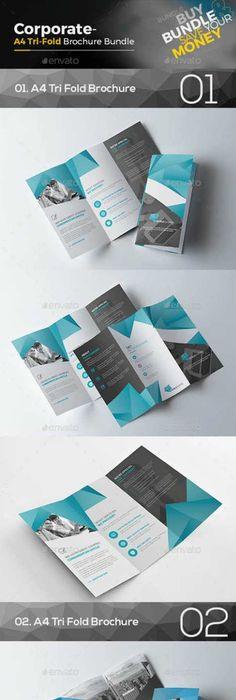 Corporate Tri Fold Brochure Bundle 16266534