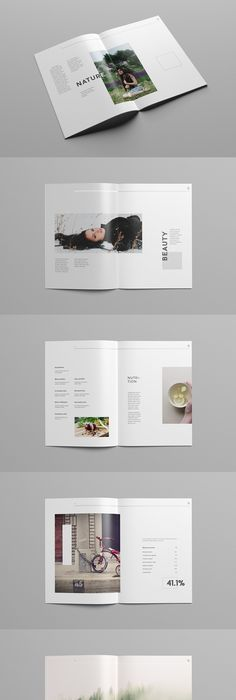 Stylish indesign brochure template with landscape black and white ...