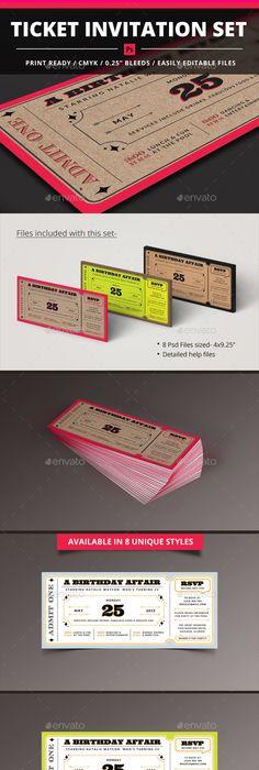 Vintage Playbill Theater Ticket Wedding Invitation Theater tickets - ticket invitation template