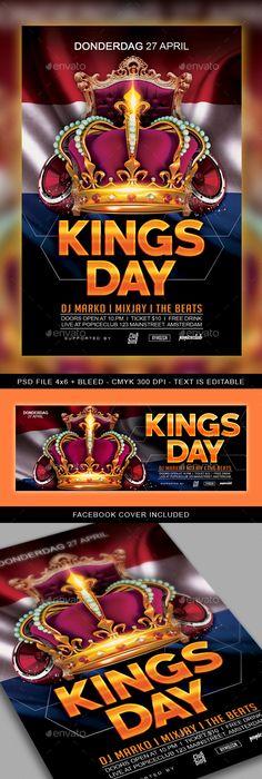 Queen Birthday Flyer  Photoshop Psd Template Disco  Download