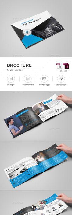 Landscape Brochure MockUp Set   Brochures Mockup And Font Logo