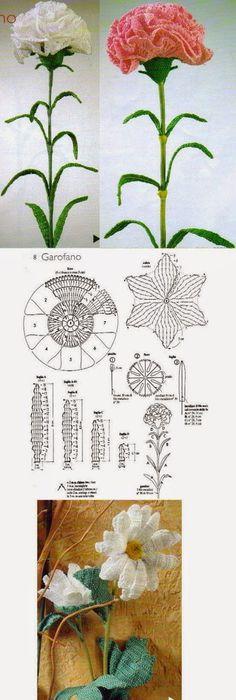 orchidea | Flowers | Pinterest | Crochet flowers, Crochet and ...