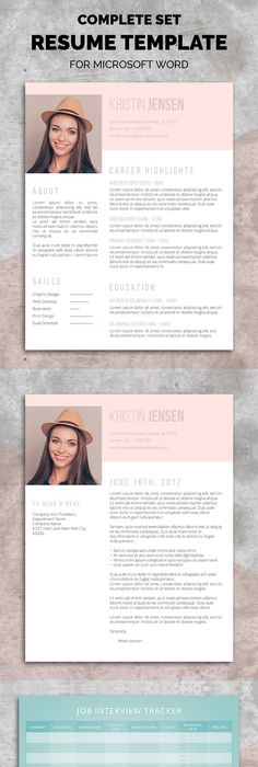Resume Template 3 page / CV Template + Cover Letter / Instant - 3 resume formats