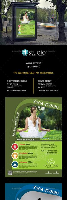 Yoga And Health Flyer Templates  Flyer Template Yoga And Template