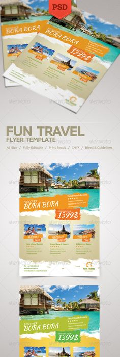 Travel Tour Flyer By Graphicsauthor Templates Pinterest Flyer