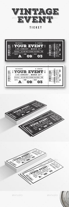 Multipurpose Event Ticket | Ticket template, Event ticket and Template