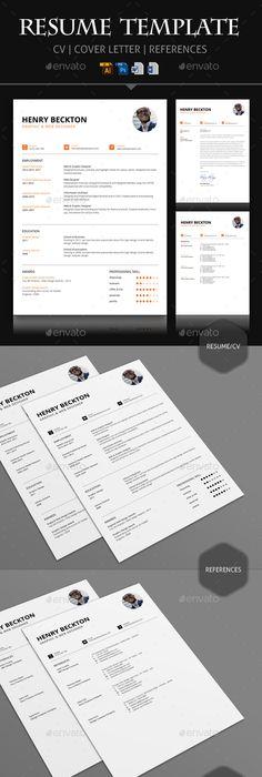 Resume/CV \u2014 Photoshop PSD #web #standard \u2022 Download ➝   - standard resume template
