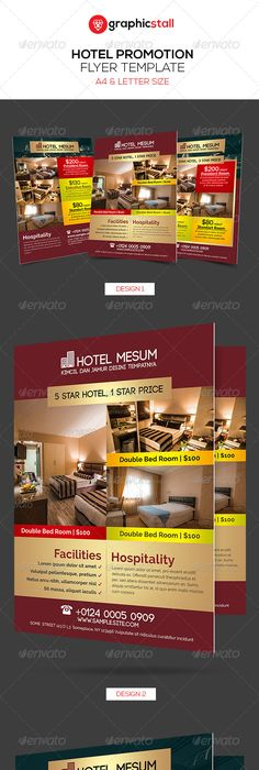 Hotel Flyer Templates  Flyer Template Template And Brochures