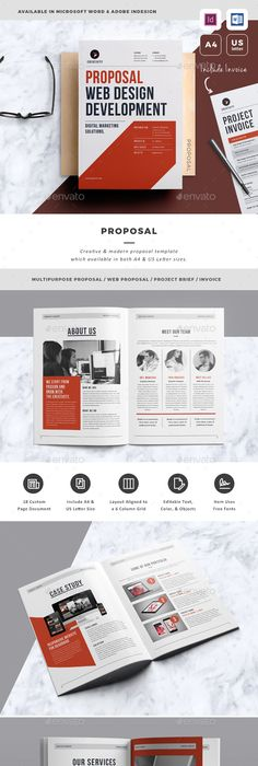 Web Design Proposal Template Proposal templates, Proposals and