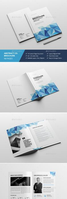 Abstract Brochure / Catalog InDesign Template #booklet ...