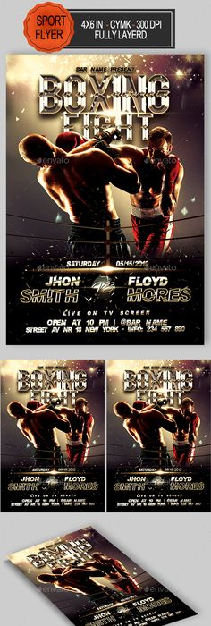 Fight Or Mma Night Flyer Template  Mma Boxing Flyer Template And