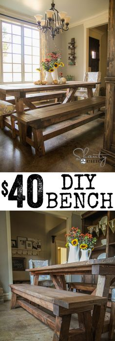 DIY $40 Bench For The Dining Table