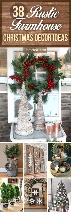 120 cheap and easy diy rustic home decor ideas decoracin 38 festive rustic farmhouse christmas decor ideas to make your season both merry and bright solutioingenieria Images