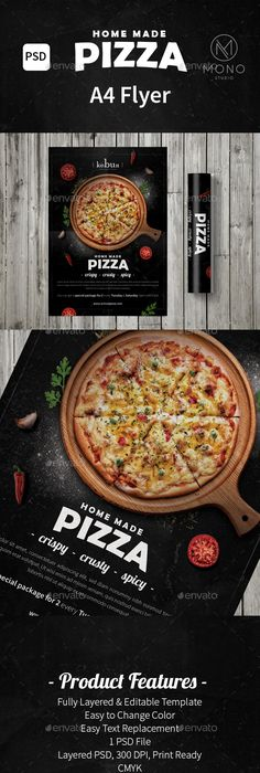 pizza restaurant free flyer template freebies printables pinterest free flyer templates flyer template and psd flyer templates