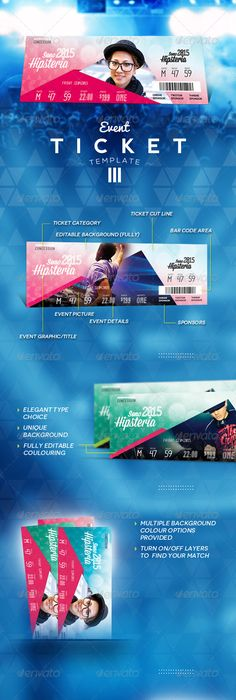 Event Tickets Template Psd Download Here HttpsGraphicriver