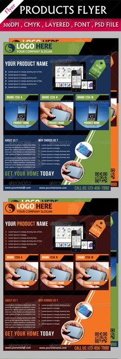 Mobile App Flyers Template V  Flyer Template Mobile App And