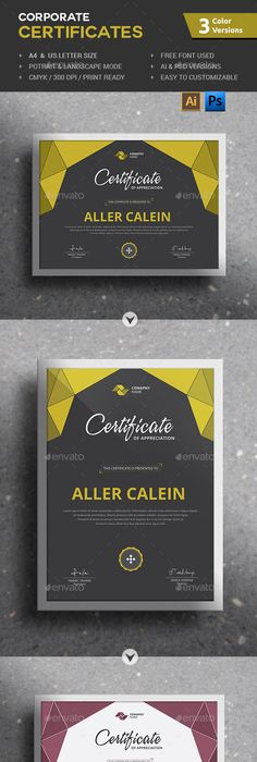 Modern certificate template certificate template and modern corporate certificates template psd vector ai download here httpgraphicriver yadclub Choice Image