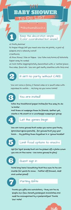 Baby Shower To Do List   Except E Vites Are Tacky And Are Not Okay.