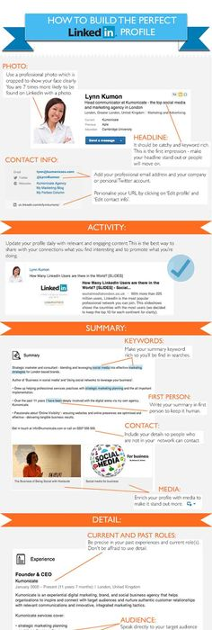 Linked In Resume Professional Linkedin Profile Tips A Checklist Of 17 Musthave .