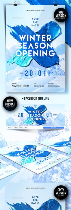 Winter Flyer  Psd Templates Template And Flyer Template