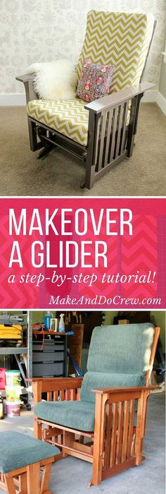 How to Recover a Nursery Glider | Gliders, Rockers and DIY tutorial