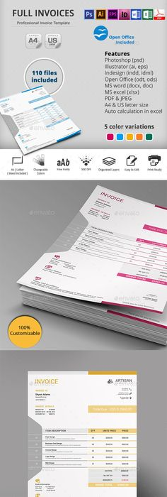 Invoice Template Proposal Templates And Brochures