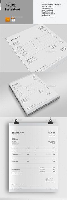 Invoice Desgin Template Template Proposal Templates And Font Logo