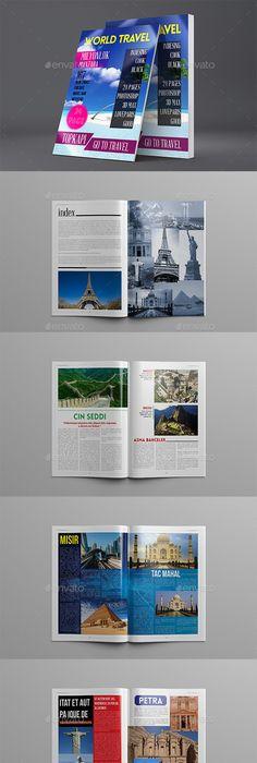 Indesign Travel Magazine Vol   Indesign Magazine Templates