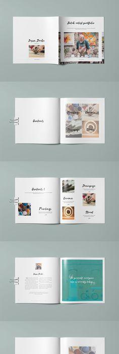 Minimal Portfolio Landscape Brochure Template InDesign INDD - 20 ...