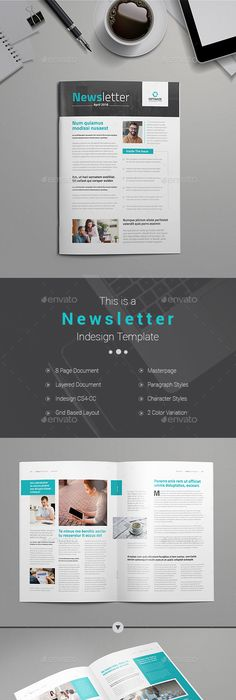 Business Newsletter  Print Templates Template And Business