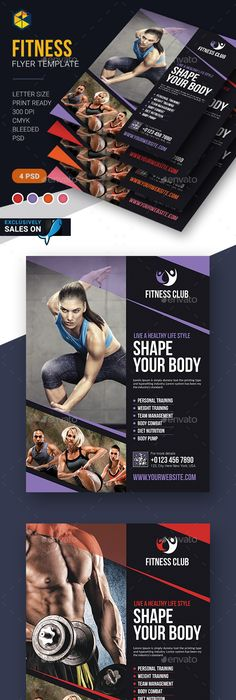 Free FitnessGym Flyer Template Psd  Free Psd Files