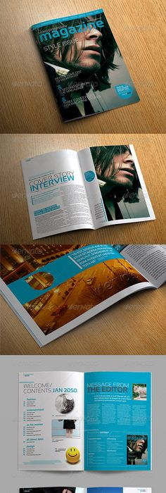 Page Indesign Magazine A  Print Templates Magazines And Template