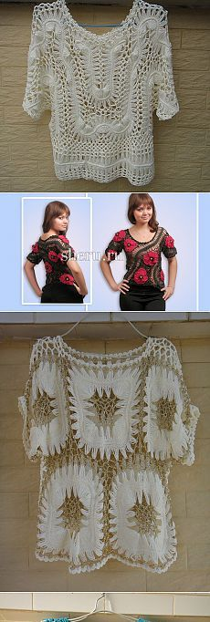 Crochet Woman Boho Tops And Boho