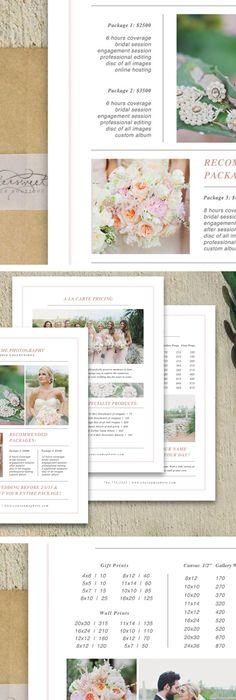 Wedding Photographer Marketing Set  Magazine Template  Laurel