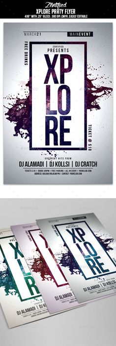 Minimalism Colourful Party Flyer Template  Colorful Party Party