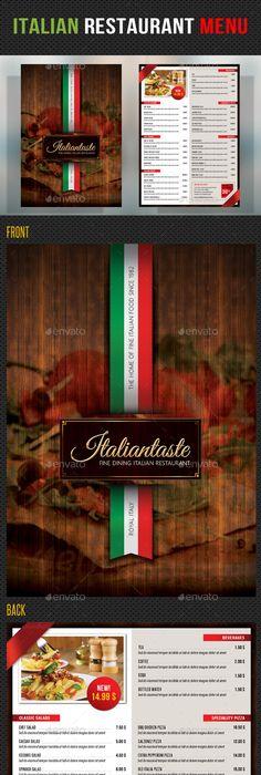 Italian Restaurant Menu Design  Italian Restaurant
